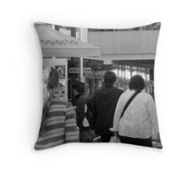 people in print Throw Pillow