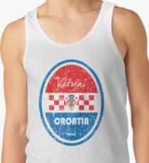 Fußball - Kroatien (Distressed) Tanktop für Männer