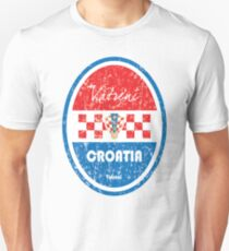 Football - Croatia (Distressed) Unisex T-Shirt