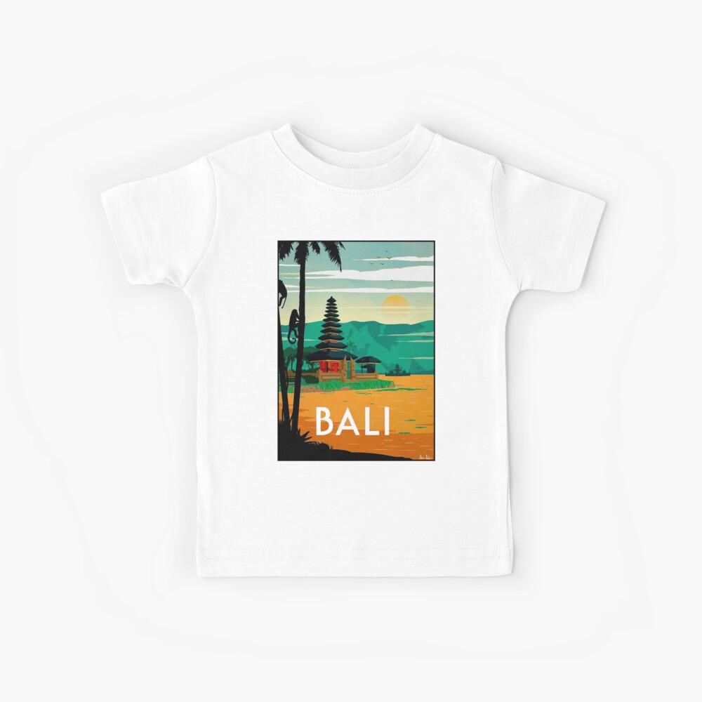 BALI: Publicidad publicitaria de viajes y turismo vintage Camiseta para niños