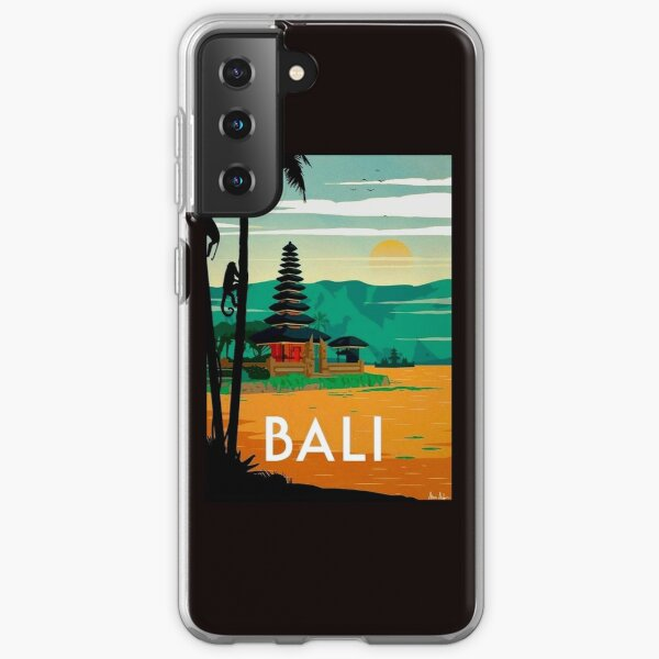 BALI : Vintage Travel and Tourism Advertising Print Samsung Galaxy Soft Case