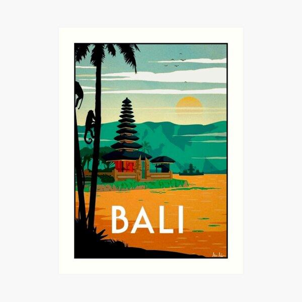 BALI : Vintage Travel and Tourism Advertising Print Art Print