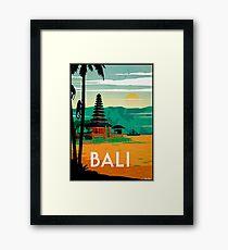 BALI : Vintage Travel and Tourism Advertising Print Framed Print