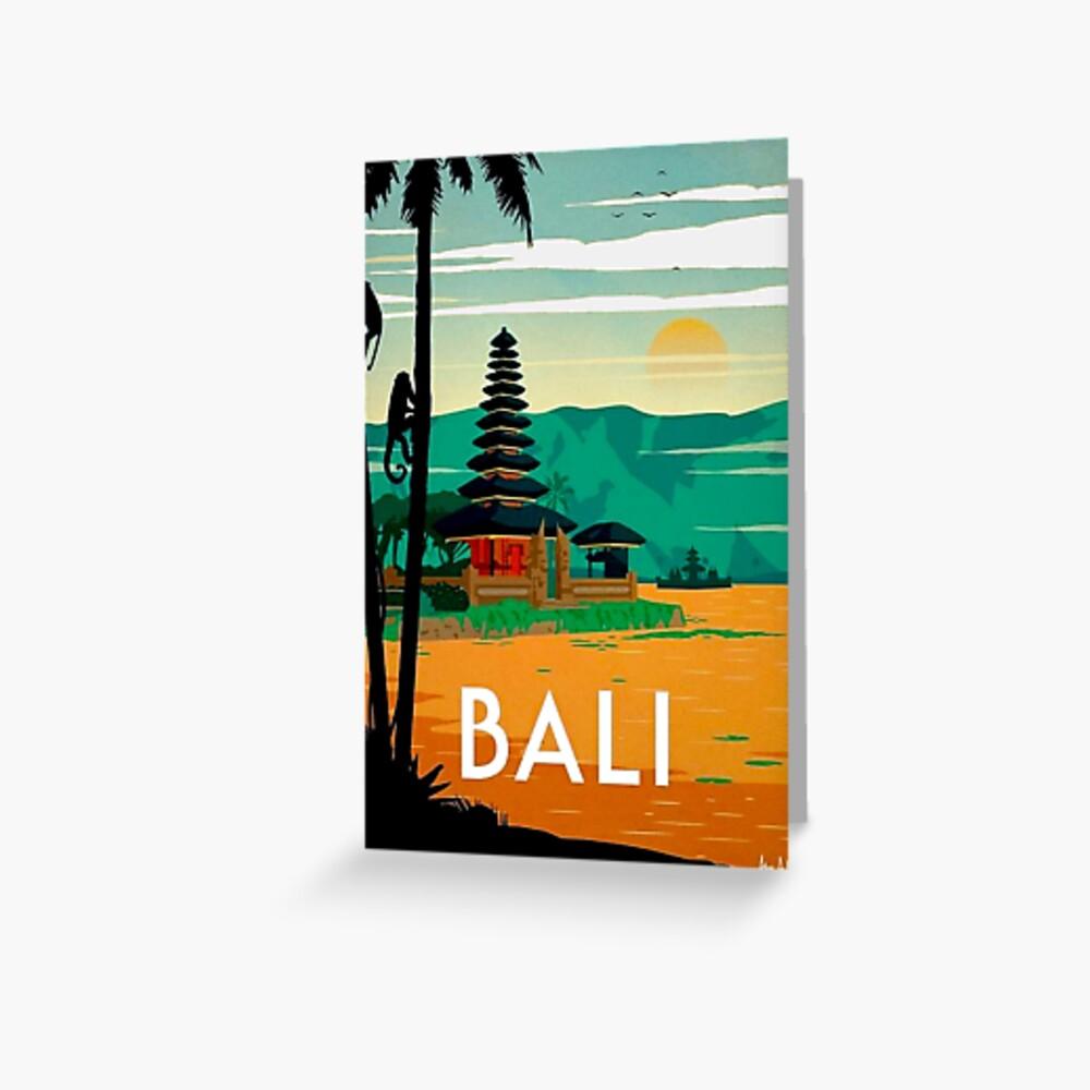 BALI: Publicidad publicitaria de viajes y turismo vintage Tarjetas de felicitación