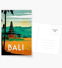 BALI : Vintage Travel and Tourism Advertising Print Postcards