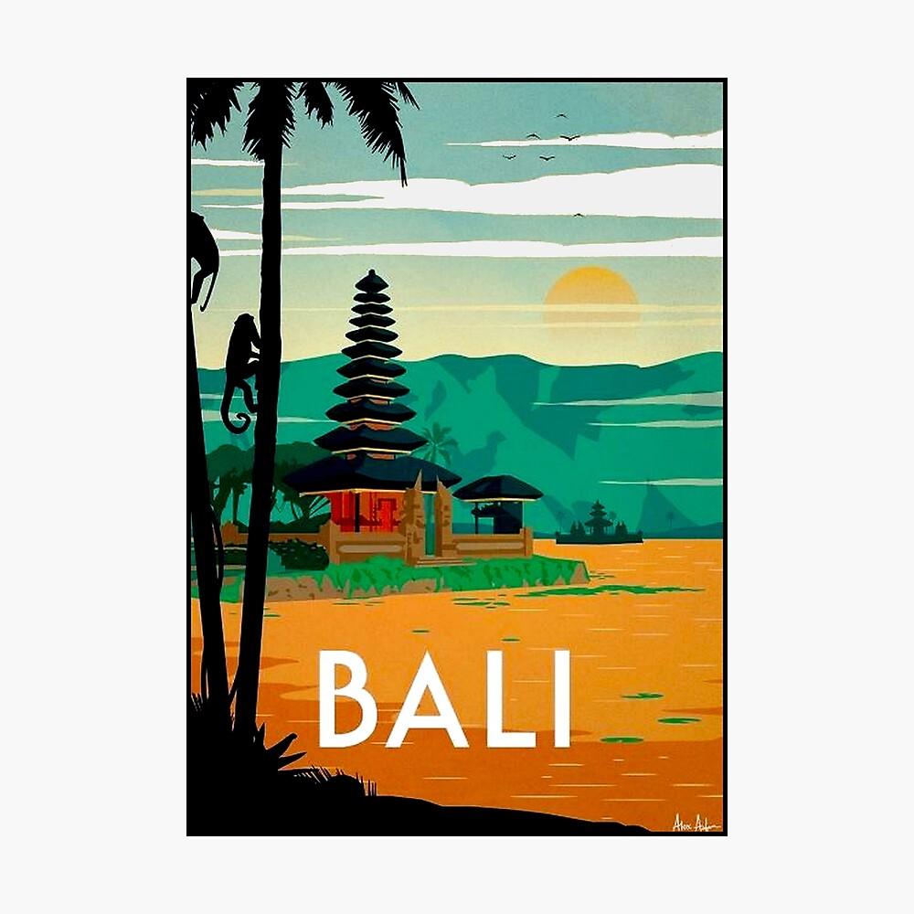 BALI: Publicidad publicitaria de viajes y turismo vintage Lámina fotográfica
