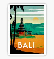 BALI : Vintage Travel and Tourism Advertising Print Sticker