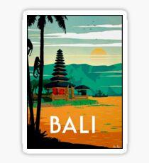 BALI: Vintage Reise- und Tourismuswerbung Print Sticker