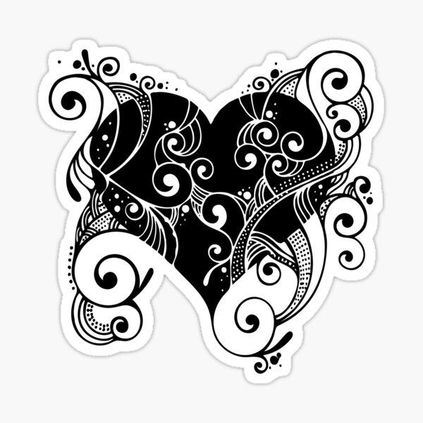 Ornate Heart Sticker