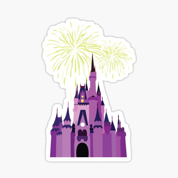 Castle Fireworks Sticker