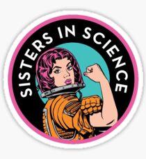 Schwestern im Logo der Wissenschaftsorganisation Sticker