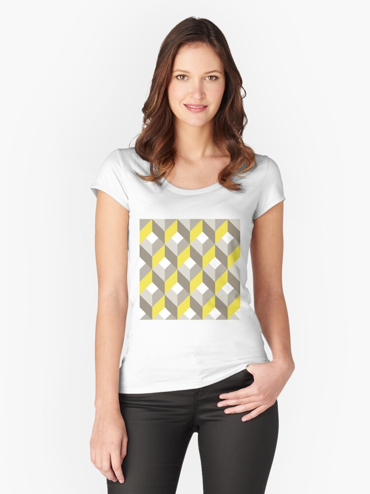 Geometric Pattern: Box: Winter Women's Fitted Scoop T-Shirt Front
