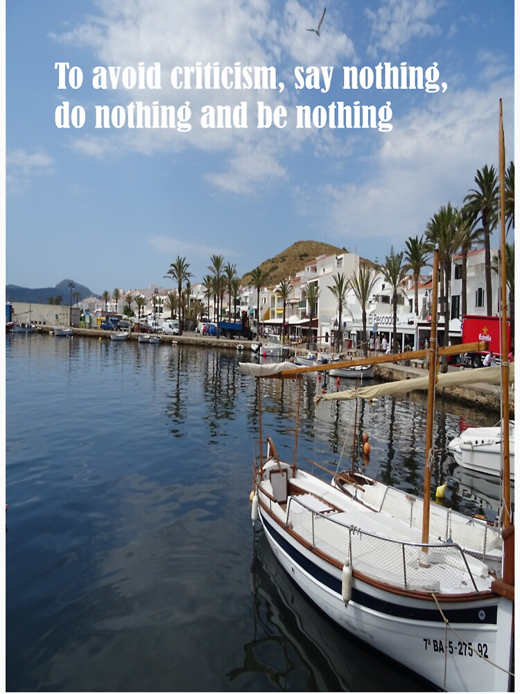 To avoid criticism say nothing do nothing be nothing by santoshputhran