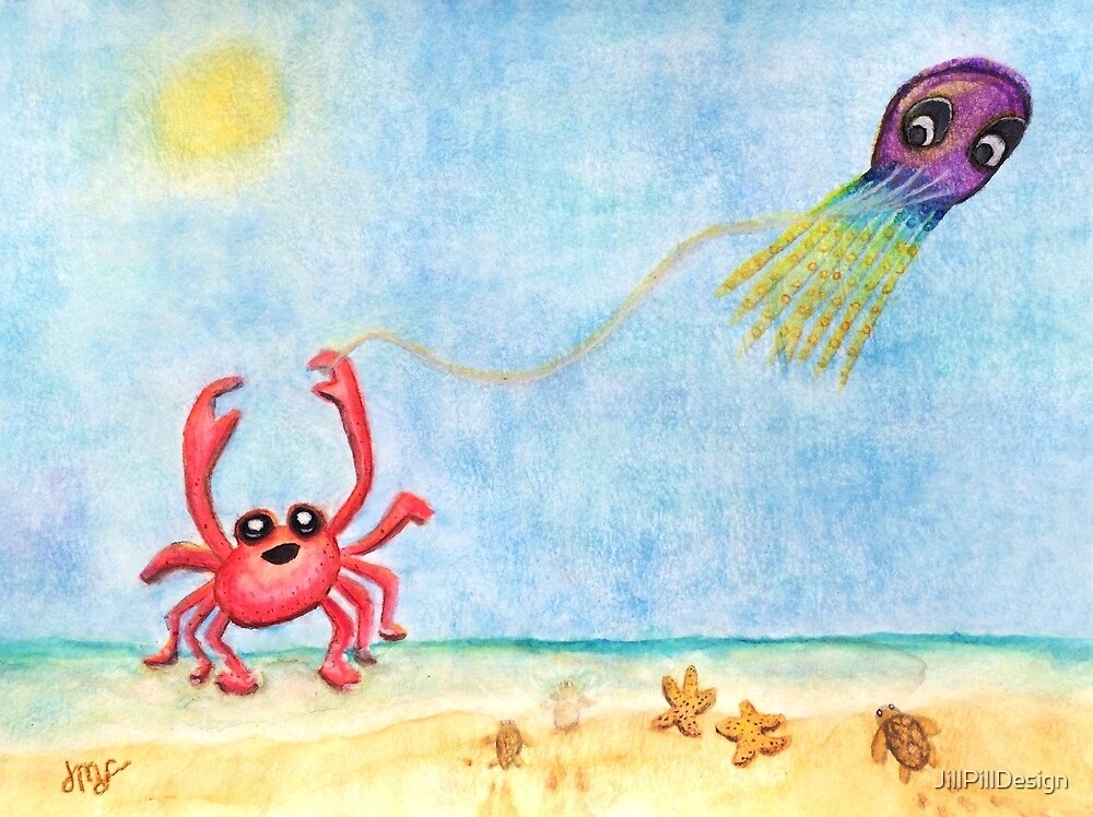 The E-Sea Life - Watercolor by JillPillDesign