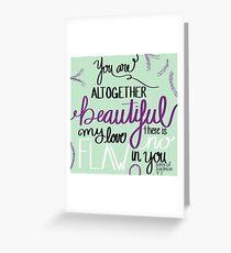 Beauty Bible Verse Greeting Card