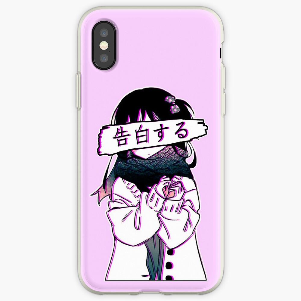 CONFESSION - Traurige japanische Ästhetik iPhone-Hüllen & Cover