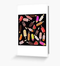 It's ice cream on a stick time! Yum, yes please! Greeting Card