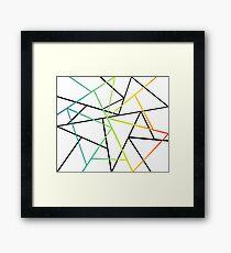 Modern Abstract Minimal Linear Framed Print