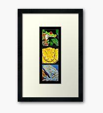 Reptile Triple Framed Print