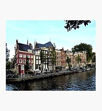 Old houses at the Herengracht Photographic Print