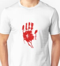 Halloween Bloody Handprint Unisex T-Shirt