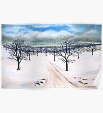Snowscene near Howgate (1) Poster