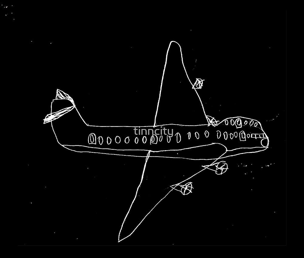 plane drawn by a kid by tinncity