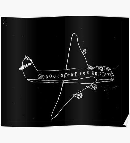 plane drawn by a kid Poster