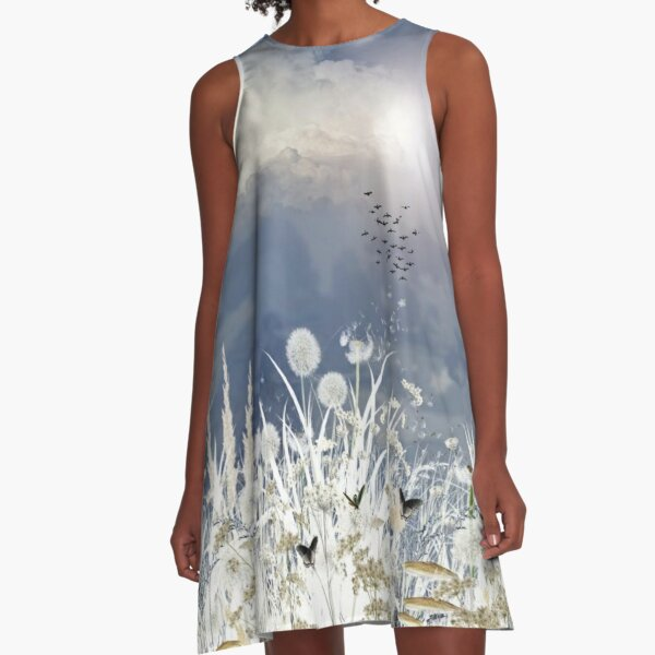 Dream Sky by Hyndussidart.com A-Line Dress