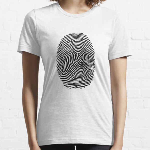 fingerprint CSI Crime Scene Essential T-Shirt