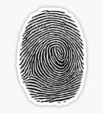 fingerprint CSI Crime Scene Sticker
