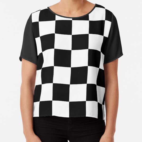 Mod Checkers Chiffon Top
