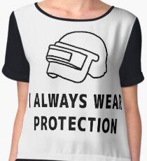 I always wear protection Women's Chiffon Top