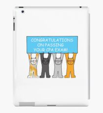 Congratulations on passing the CPA exam. iPad Case/Skin