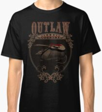 Outlaw Country Americana. Armadillo con guitarra Classic T-Shirt