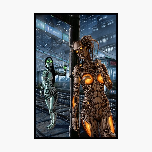 Cyberpunk Painting 045 Photographic Print