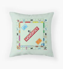 Monopoly Board Throw Pillow