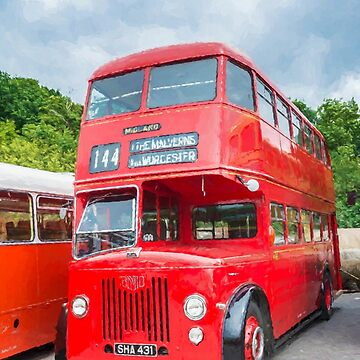 Old Red London Bus by maryloufletcher