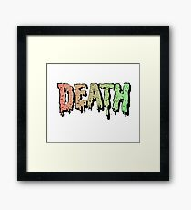 Death - Graffiti. Song Mashup Framed Print