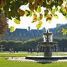 Place des Vosges in Early Autumn 2 by Alex Cassels