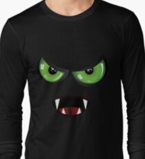 Evil face with green eyes T-Shirt