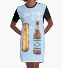 "Sexy Chip 'N"" Ale Graphic T-Shirt Dress"