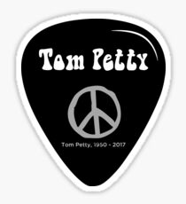 Tom Petty, Guitar Pick with Peace Symbol, Rest in Peace,   Sticker