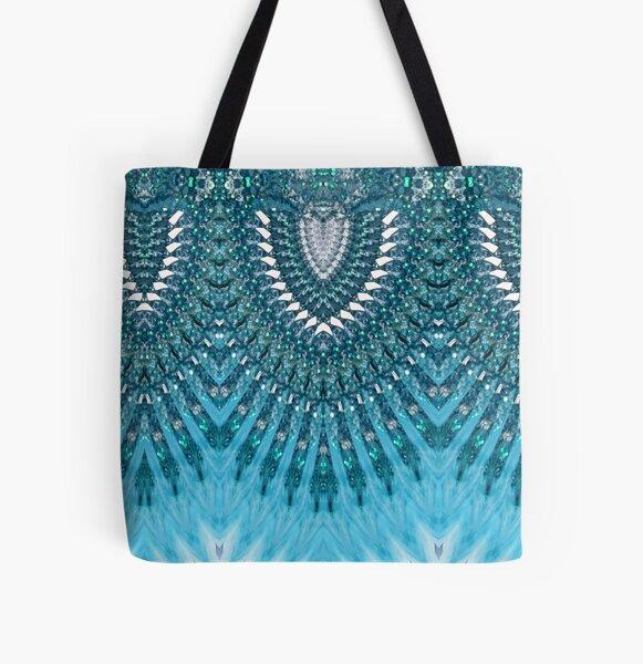 Dancing Mermaids All Over Print Tote Bag