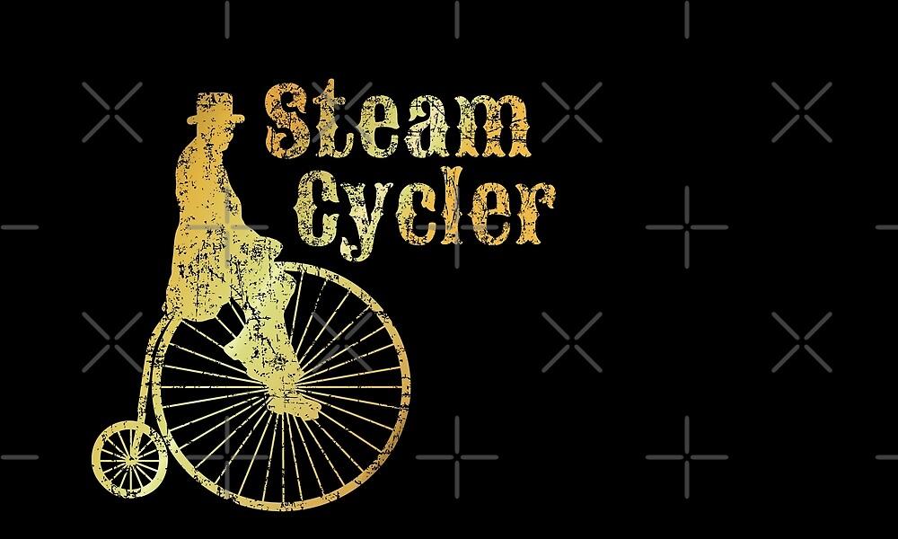 Steam Cycler Bicycle Design (Ancient Gold) von theshirtshops