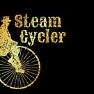 Steam Cycler Bicycle Design (Ancient Gold) by theshirtshops