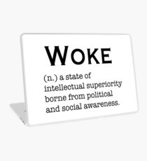 Woke definition Laptop Skin