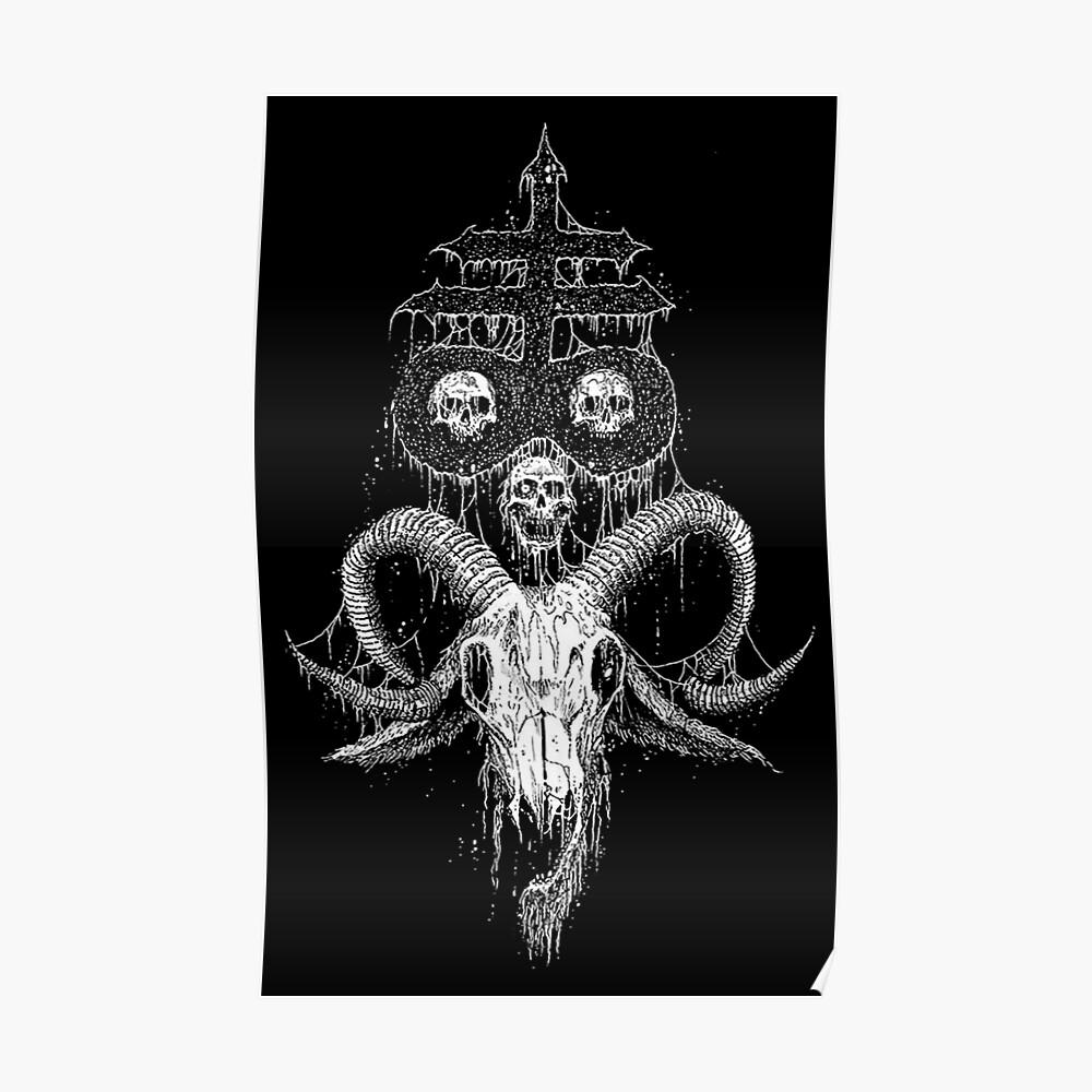 Leviathan Kreuz mit dem Schädel Poster