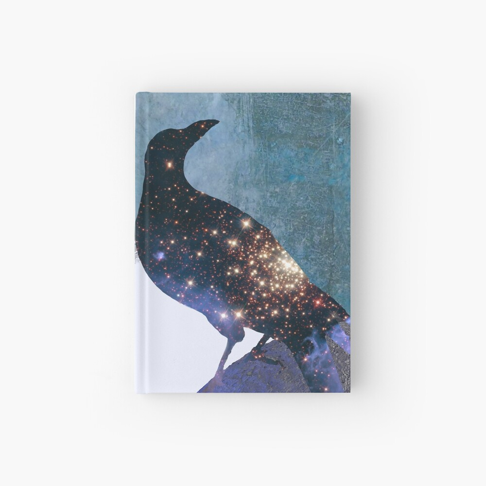 New worlds thought Crow Hardcover Journal