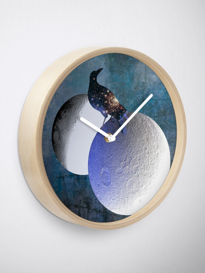 Alternate view of New worlds thought Crow Clock